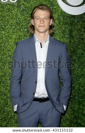 LOS ANGELES - JUN 2:  Lucas Till at the 4th Annual CBS Television Studios Summer Soiree at the Palihouse on June 2, 2016 in West Hollywood, CA - stock photo