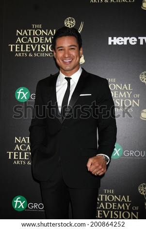 LOS ANGELES - JUN 22:  Mario Lopez at the 2014 Daytime Emmy Awards Arrivals at the Beverly Hilton Hotel on June 22, 2014 in Beverly Hills, CA - stock photo