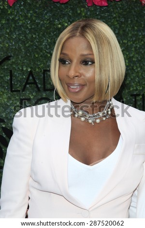 LOS ANGELES - JUN 13: Mary J Blige at the  LadyLike Foundation 7th Annual Women Of Excellence Scholarship Luncheon at Luxe Hotel on June 13, 2015 in Los Angeles, California. - stock photo