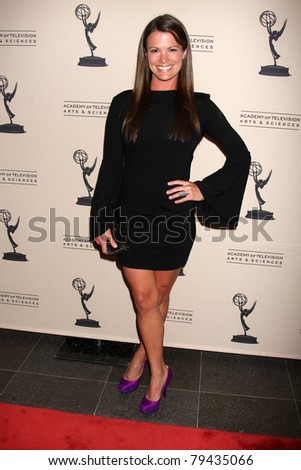 LOS ANGELES - JUN 16:  Melissa Claire Egan arrives at the Academy of Television Arts and Sciences Daytime Emmy Nominee Reception at SLS Hotel at Beverly Hills on June 16, 2011 in Beverly Hills, CA - stock photo