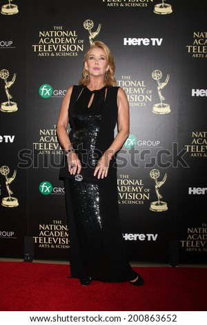 LOS ANGELES - JUN 22:  Melody Thomas Scott at the 2014 Daytime Emmy Awards Arrivals at the Beverly Hilton Hotel on June 22, 2014 in Beverly Hills, CA - stock photo