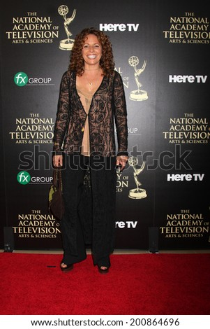 LOS ANGELES - JUN 22:  Meredith Scott Lynn at the 2014 Daytime Emmy Awards Arrivals at the Beverly Hilton Hotel on June 22, 2014 in Beverly Hills, CA - stock photo