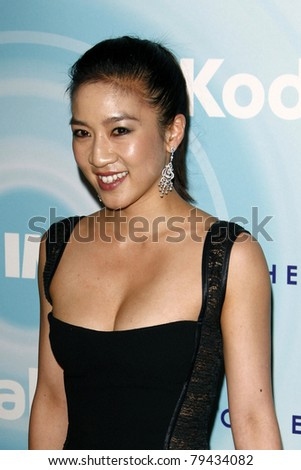 LOS ANGELES - JUN 16:  Michelle Kwan arrives at the 2011 Women In Film Crystal + Lucy Awards  at Beverly Hilton Hotel  on June 16, 2011 in Beverly Hills, CA - stock photo