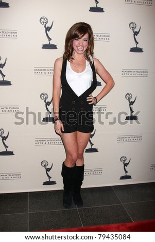 LOS ANGELES - JUN 16:  Molly Burnett arrives at the Academy of Television Arts and Sciences Daytime Emmy Nominee Reception at SLS Hotel at Beverly Hills on June 16, 2011 in Beverly Hills, CA - stock photo
