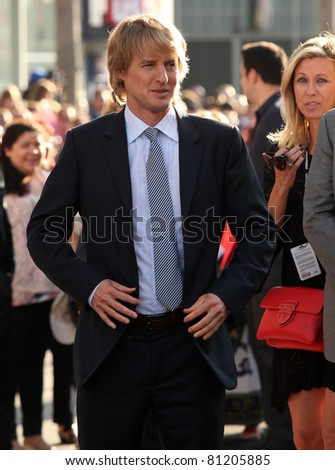 "LOS ANGELES - JUN 18:  OWEN WILSON arrives to the ""Cars 2"" World Premiere  on June 18,2011 in Hollywood, CA"