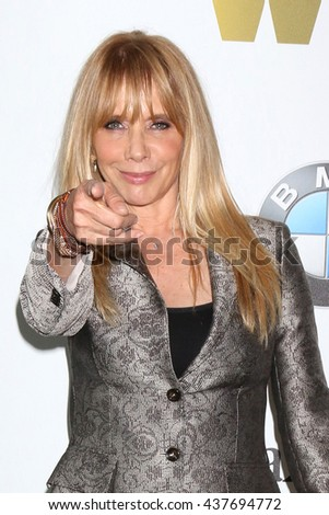 LOS ANGELES - JUN 15:  Rosanna Arquette at the Women In Film 2016 Crystal and Lucy Awards at the Beverly Hilton Hotel on June 15, 2016 in Beverly Hills, CA - stock photo