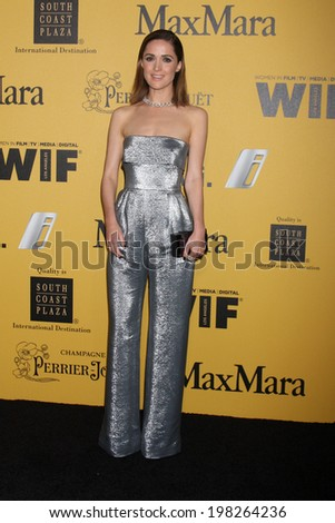 LOS ANGELES - JUN 11:  Rose Byrne at the Women In Film 2014 Crystal + Lucy Awards at Century Plaza Hotel on June 11, 2014 in Beverly Hills, CA - stock photo