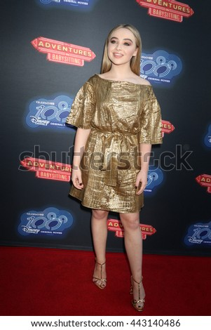 LOS ANGELES - JUN 23:  Sabrina Carpenter at the 100th DCOM Adventures In Babysitting LA Premiere Screening at the Directors Guild of America on June 23, 2016 in Los Angeles, CA - stock photo