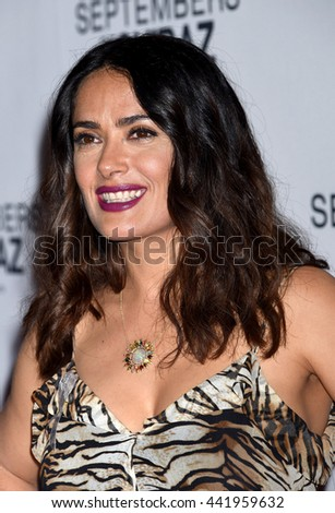 LOS ANGELES - JUN:  Salma Hayek arrives to the Septembers of Shiraz Premiere  on June 21, 2016 in Los Angeles, CA