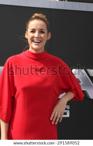 "LOS ANGELES - JUN 28:  Sarah Dumont at the ""Terminator Genisys"" Los Angeles Premiere at the Dolby Theater on June 28, 2015 in Los Angeles, CA - stock photo"