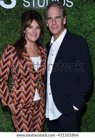 LOS ANGELES - JUN 02:  Scott Bakula & Chelsea Field arrives to the 2016 CBS Summer Soiree  on June 02, 2016 in Hollywood, CA.                 - stock photo