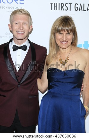 LOS ANGELES - JUN 13:  Seth Maxwell, Catherine Hardwicke at the 7th Annual Thirst Gala at the Beverly Hilton Hotel on June 13, 2016 in Beverly Hills, CA - stock photo
