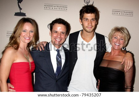 LOS ANGELES - JUN 16:  Sharon Case, Christian LeBlanc, Casey Jon Deidrick, Judi Evans arriving at the ATAS Daytime Emmy  Reception at SLS Hotel at Beverly Hills on June 16, 2011 in Beverly Hills, CA - stock photo