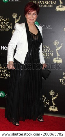 LOS ANGELES - JUN 22:  Sharon Osbourne at the 2014 Daytime Emmy Awards Arrivals at the Beverly Hilton Hotel on June 22, 2014 in Beverly Hills, CA - stock photo