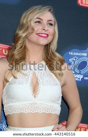 LOS ANGELES - JUN 23:  Shelby Welfert at the 100th DCOM Adventures In Babysitting LA Premiere Screening at the Directors Guild of America on June 23, 2016 in Los Angeles, CA - stock photo