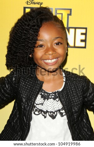 "LOS ANGELES - JUN 5:  Skai Jackson arriving at the Premiere Of Disney Channel's .""Let It Shine"" at DGA Theater on June 5, 2012 in Los Angeles, CA"