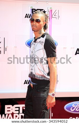 LOS ANGELES - JUN 29:  Snootie Wild at the 2014 BET Awards - Arrivals at the Nokia Theater at LA Live on June 29, 2014 in Los Angeles, CA - stock photo