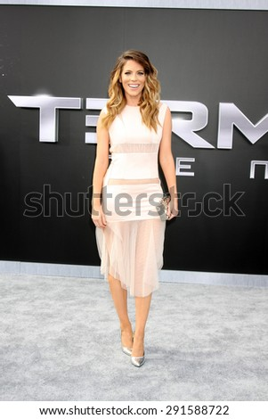 "LOS ANGELES - JUN 28:  Stephanie Bauer at the ""Terminator Genisys"" Los Angeles Premiere at the Dolby Theater on June 28, 2015 in Los Angeles, CA - stock photo"