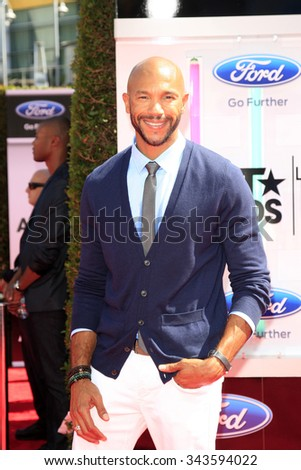LOS ANGELES - JUN 29:  Stephen Bishop at the 2014 BET Awards - Arrivals at the Nokia Theater at LA Live on June 29, 2014 in Los Angeles, CA - stock photo
