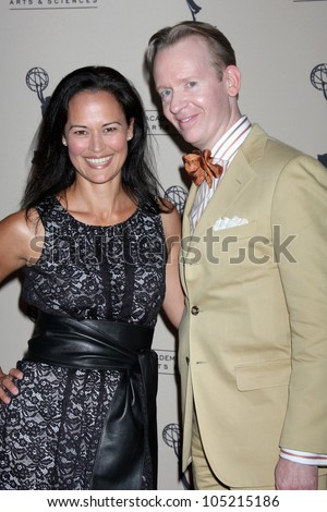 LOS ANGELES - JUN 14:  Sydney Penny, w David Zyla, Costume Designer of AMC arrives at the ATAS Daytime Emmy Awards Nominees Reception at SLS Hotel At Beverly Hills on June 14, 2012 in Los Angeles, CA