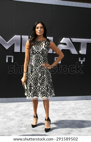 "LOS ANGELES - JUN 28:  Tehmina Sunny at the ""Terminator Genisys"" Los Angeles Premiere at the Dolby Theater on June 28, 2015 in Los Angeles, CA - stock photo"