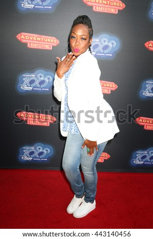 LOS ANGELES - JUN 23:  Tichina Arnold at the 100th DCOM Adventures In Babysitting LA Premiere Screening at the Directors Guild of America on June 23, 2016 in Los Angeles, CA - stock photo