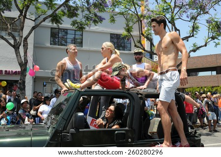 LOS ANGELES - JUNE 10: Los Angeles LGBT Pride Parade in Hollywood. June 10, 2012 in Los Angeles, CA