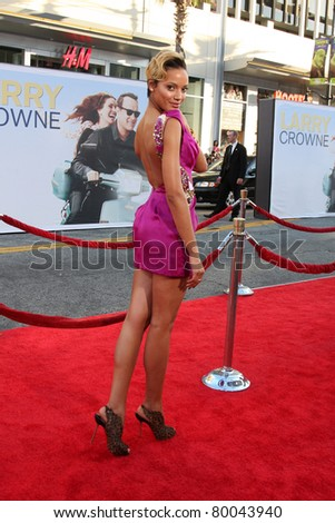 "LOS ANGELES - JUNE 27:  Selita Ebanks arriving at the ""Larry Crowne"" World Premiere at Chinese Theater on June 27, 2011 in Los Angeles, CA"