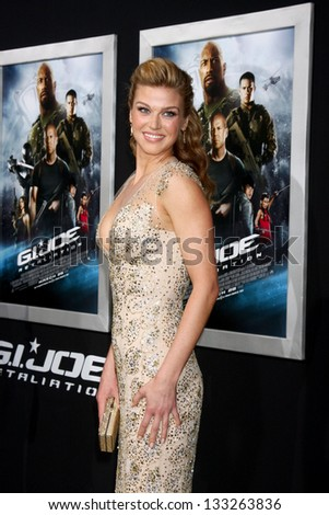"""LOS ANGELES - MAR 28:  Adrianne Palicki arrives at the """"G.I. Joe: Retaliation""""  LA Premiere at the Chinese Theater on March 28, 2013 in Los Angeles, CA - stock photo"""