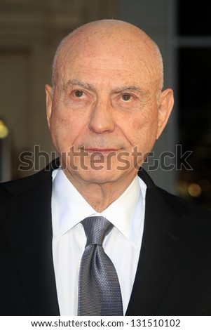 "LOS ANGELES - MAR 11:  Alan Arkin arrives at the World Premiere of ""The Incredible Burt Wonderstone"" at the Chinese Theater on March 11, 2013 in Los Angeles, CA"