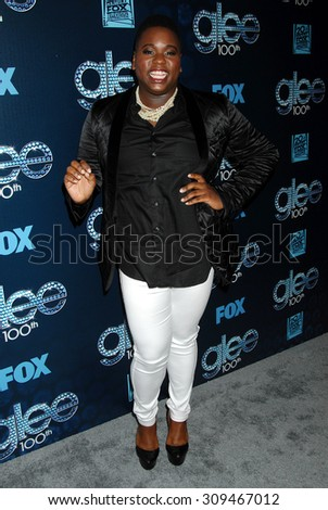 LOS ANGELES - MAR 18:  Alex Newell arrives at the GLEE 100th EPISODE CELEBRATION  on March 18, 2014 in Los Angeles, CA