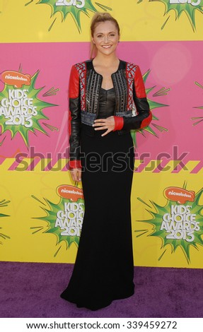 LOS ANGELES - MAR 23 - Alyson Stoner arrives at the Nickelodeons 2013 Kids Choice Awards on March 23,  2013 in Los Angeles, CA              - stock photo