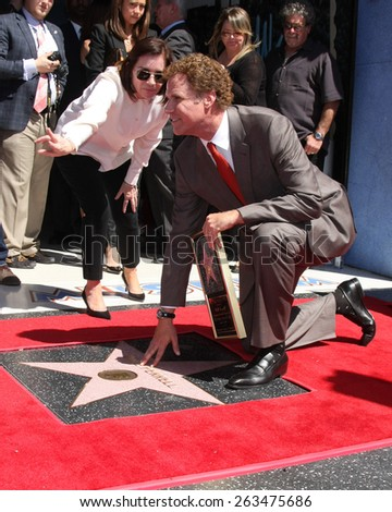 LOS ANGELES - MAR 24:  Ana Martinez, WIll Ferrell at the Will Ferrell Hollywood Walk of Fame Star Ceremony at the Hollywood Boulevard on March 24, 2015 in Los Angeles, CA - stock photo