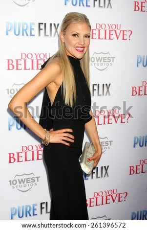"""LOS ANGELES - MAR 16:  Andrea Logan White at the """"Do You Believe"""" Premiere at the ArcLight Hollywood Theaters on March 16, 2015 in Los Angeles, CA - stock photo"""