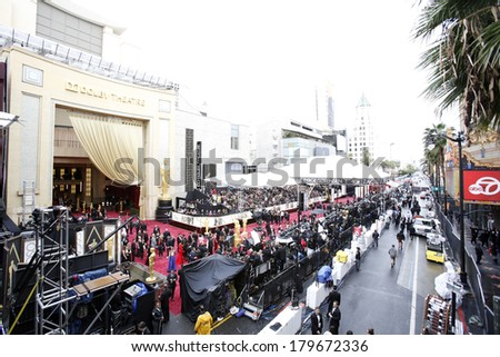 LOS ANGELES - MAR 2:  Atmosphere at the 86th Academy Awards at Dolby Theater, Hollywood & Highland on March 2, 2014 in Los Angeles, CA - stock photo