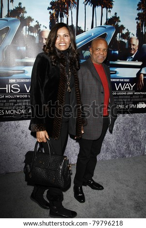 LOS ANGELES - MAR 22:  Berry Gordy, guest arriving at the Los Angeles HBO Premiere of 'His Way' at Paramount Studios in Los Angeles, California on March 22, 2011.