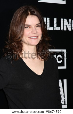 """LOS ANGELES - MAR 26:  Betsy Brandt arrives at  the AMC's """"The Killing"""" Season 2 Premiere at the ArcLight Theaters on March 26, 2012 in Los Angeles, CA - stock photo"""