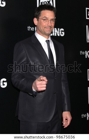 """LOS ANGELES - MAR 26:  Billy Campbell arrives at  the AMC's """"The Killing"""" Season 2 Premiere at the ArcLight Theaters on March 26, 2012 in Los Angeles, CA - stock photo"""