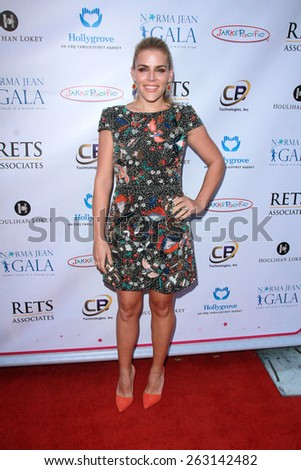 LOS ANGELES - MAR 18:  Busy Philipps at the Norma Jean Gala at the Taglyan Complex on March 18, 2015 in Los Angeles, CA - stock photo