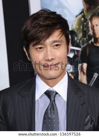 """LOS ANGELES - MAR 28:  Byung-Hun Lee arrives to the """"G.I. Joe: Retaliation"""" Los Angeles Premiere  on March 28, 2013 in Hollywood, CA. - stock photo"""