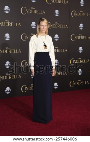 """LOS ANGELES - MAR 1:  Cate Blanchett at the """"Cinderella"""" World Premiere at the El Capitan Theater on March 1, 2015 in Los Angeles, CA - stock photo"""