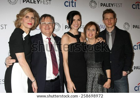 "LOS ANGELES - MAR 7:  Christine Baranski, Robert King, Julianna Margulies, Michelle King, Matt Czuchry at the PaleyFEST LA - ""The Good Wife"" at the Dolby Theater on March 7, 2015 in Los Angeles, CA"