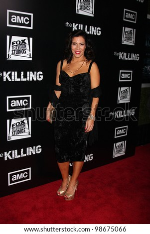 """LOS ANGELES - MAR 26:  Claudia Ferri arrives at  the AMC's """"The Killing"""" Season 2 Premiere at the ArcLight Theaters on March 26, 2012 in Los Angeles, CA - stock photo"""
