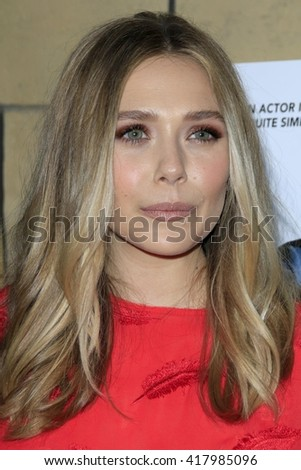 LOS ANGELES - MAR 22:  Elisabeth Olsen at the I Saw the Light LA Premiere at the Egyptian Theatre on March 22, 2016 in Los Angeles, CA - stock photo