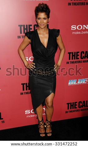 LOS ANGELES - MAR 5 - Halle Berry arrives at The Call World Premiere on March 5, 2013 in Los Angeles, CA              - stock photo