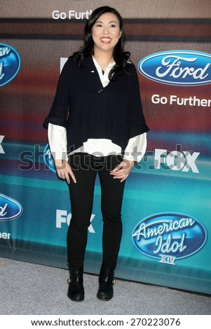 """LOS ANGELES - MAR 11:  Hannah An at the """"American Idol Season 14"""" Finalist Party at the The District Resturant on March 11, 2015 in Los Angeles, CA  - stock photo"""