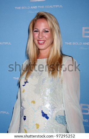 LOS ANGELES - MAR 10:  Her Royal Highness Princess Theodora of Greece and Denmark arrives at the Bold and Beautiful 25th Anniversary Party at the Perch Resturant on March 10, 2012 in Los Angeles, CA