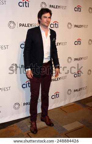 "LOS ANGELES - MAR 16:  Ian Somerhalder at the PaleyFEST - ""Lost"" Reunion at Dolby Theater on March 16, 2014 in Los Angeles, CA - stock photo"