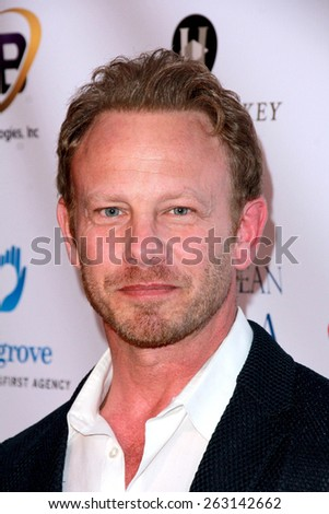 LOS ANGELES - MAR 18:  Ian Ziering at the Norma Jean Gala at the Taglyan Complex on March 18, 2015 in Los Angeles, CA - stock photo