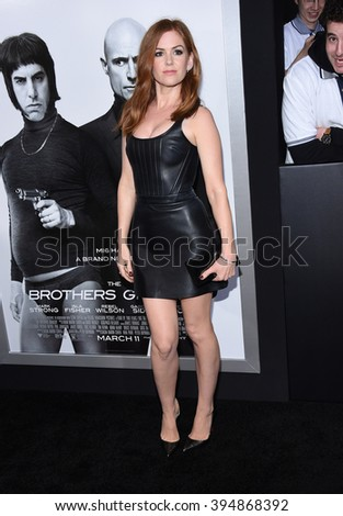 "LOS ANGELES - MAR 03:  Isla Fisher arrives to the ""The Brothers Grimsby"" Los Angeles Premiere  on March 03, 2016 in Hollywood, CA."